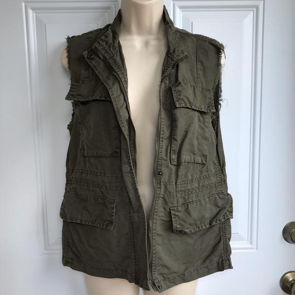 Sanctuary Jackets & Blazers - Sanctuary Clothing Green Utility Vest EUC